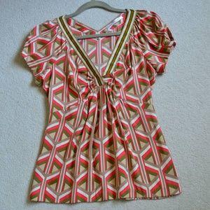 Diane von Furstenberg Geometry Printed Silk blouse